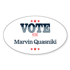 Vote for 10_oval Decal