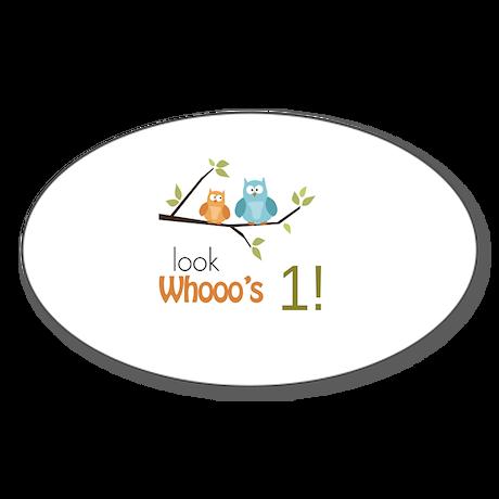 Custom Owl Birthday Sticker (Oval)