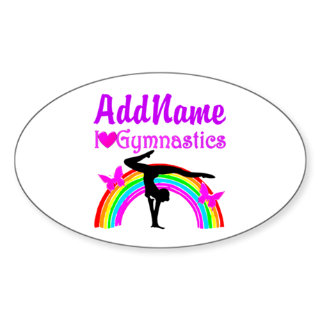 TALENTED GYMNAST Sticker (Oval)