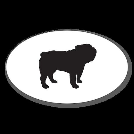Bulldog Sticker (Oval)