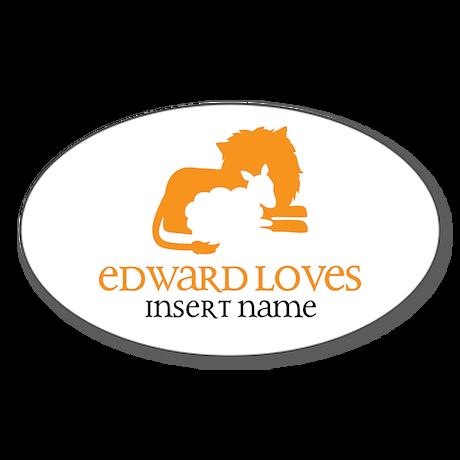 Edward Loves Sticker (Oval)