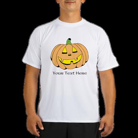 Halloween Pumpkin Custom Text Performance Dry T-Sh