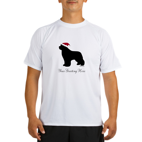 Newf Santa - Your Text Performance Dry T-Shirt