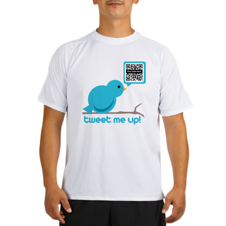 QR Custom Twitter tee Performance Dry T-Shirt