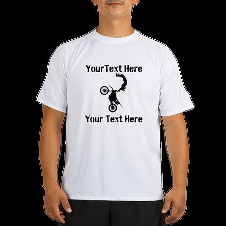 Eat Sleep Jump - Custom Text Performance Dry T-Shi