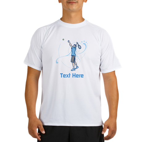 Tennis Serve, with Text. Performance Dry T-Shirt