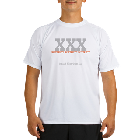 Custom College (orange/grey) Performance Dry T-Shi