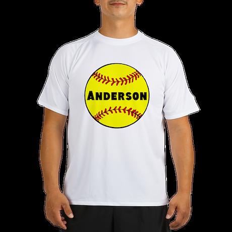 Personalized Softball Performance Dry T-Shirt