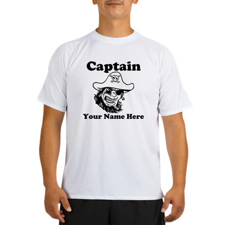 Custom Captain Pirate Peformance Dry T-Shirt