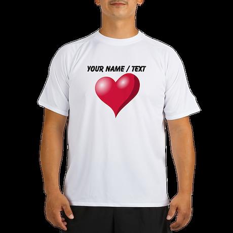 Custom Pink Heart Peformance Dry T-Shirt
