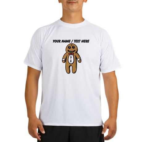 Personalized Gingerbread Man Peformance Dry T-Shir