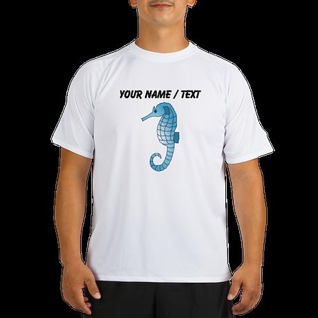 Custom Blue Seahorse Performance Dry T-Shirt