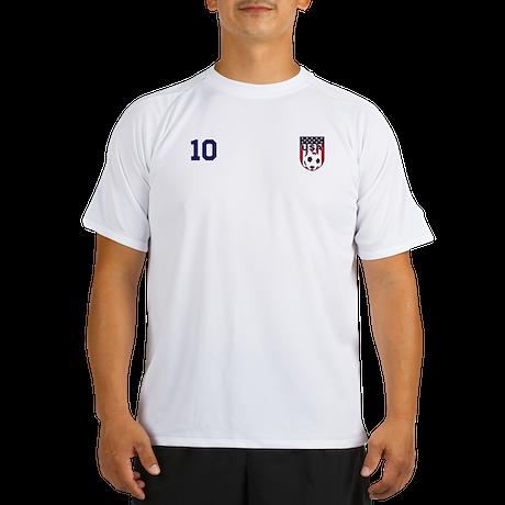 Custom USA Soccer T-Shirt Jersey Performance Dry T