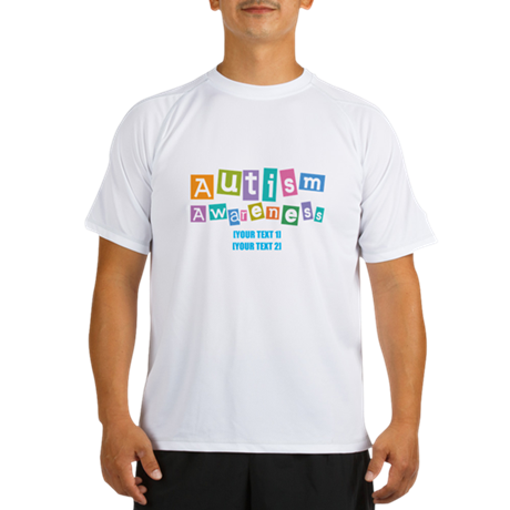 Personalize Autism Awareness Performance Dry T-Shi
