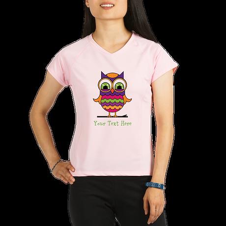 Customizable Whimsical Owl Performance Dry T-Shirt