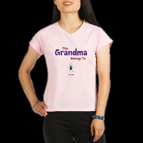This Grandma Belongs 1 One Performance Dry T-Shirt