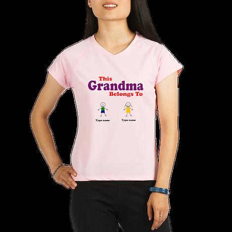 This Grandma Belongs 2 Two Performance Dry T-Shirt