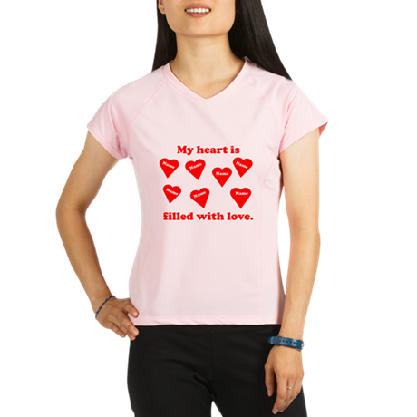 Personalized My Heart Filled Performance Dry T-Shi