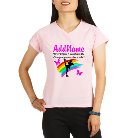 ICE SKATER QUOTE Performance Dry T-Shirt