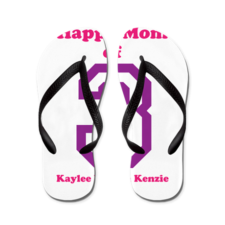 Personalized Mother Flip Flops