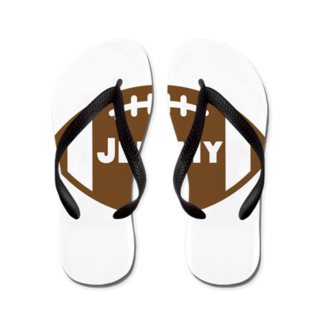 Personalized Football Flip Flops
