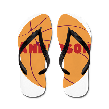 Personalized Basketball. Flip Flops