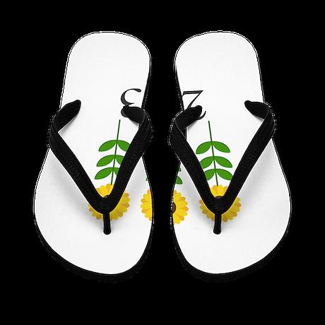 Personalizable Sunflowers Flip Flops