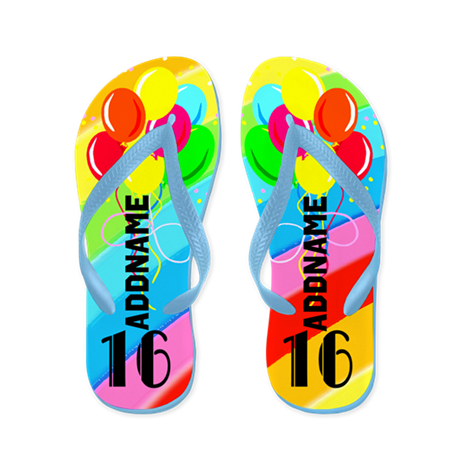 Festive 16Th Flip Flops
