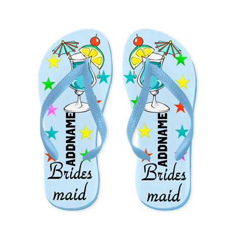 Pretty Bridesmaid Flip Flops