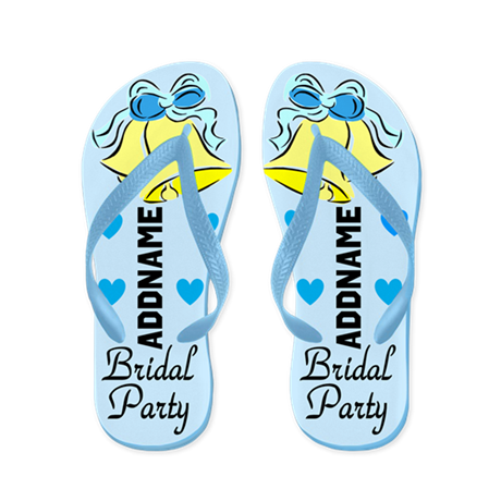Chic Bridal Party Flip Flops