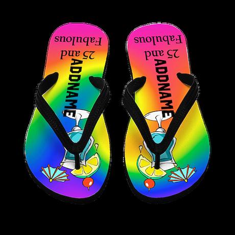 Fashionable 25th Flip Flops