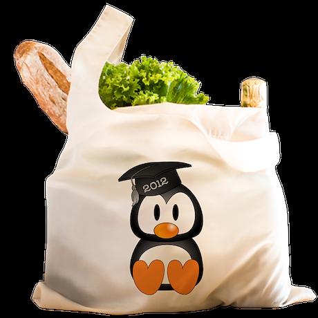 Custom Graduation Penguin Reusable Shopping Bag