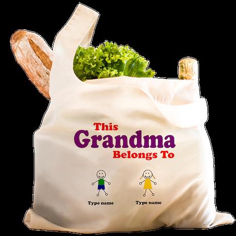 This Grandma Belongs 2 Two Reusable Shopping Bag