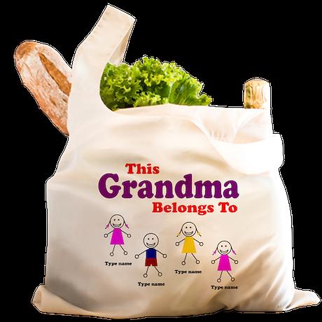 This Grandma Belongs 4 kids Reusable Shopping Bag