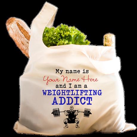 Weightlifting Addict Reusable Shopping Bag