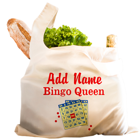 BINGO QUEEN Reusable Shopping Bag