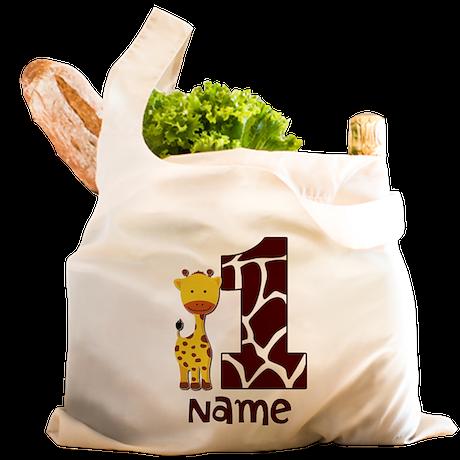 First Birthday Giraffe Reusable Shopping Bag
