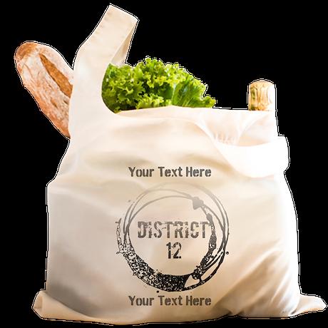District 12 Your Text Reusable Shopping Bag