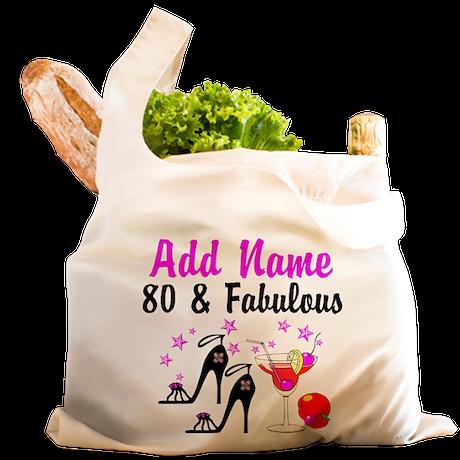 HAPPY 80TH BIRTHDAY Reusable Shopping Bag