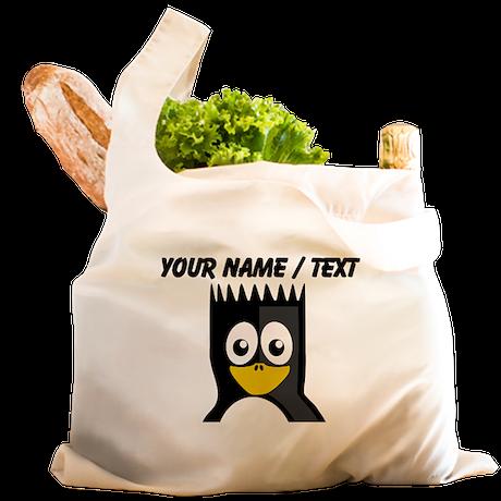 Custom Spikey Hair Penguin Reusable Shopping Bag