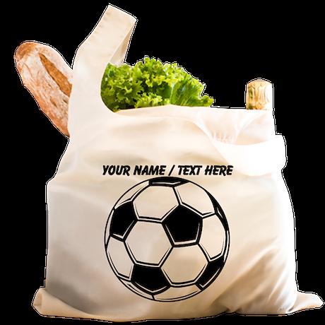 Custom Soccer Ball Reusable Shopping Bag