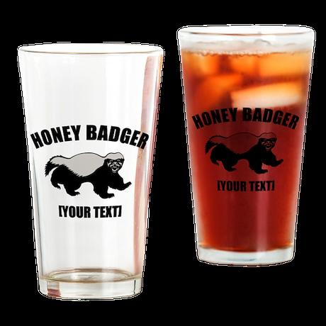 Honey Badger Custom Drinking Glass