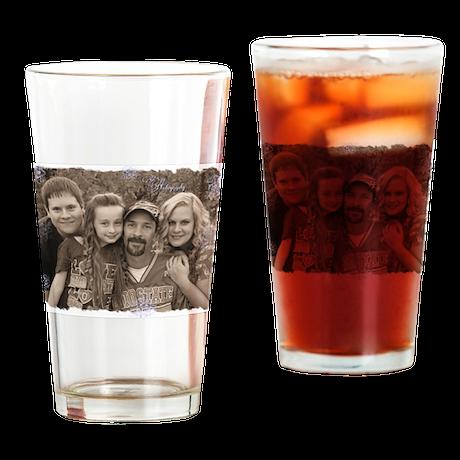 Custom photo Drinking Glass