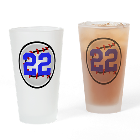 BB/SB Number Drinking Glass