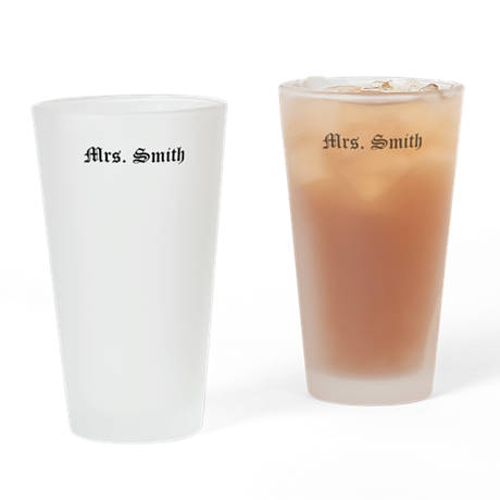 Mr and Mrs Pint Glass