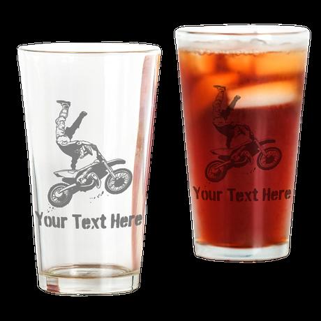 Freestyle Motocross Drinking Glass