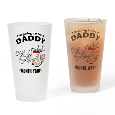 Funny Daddy To Be Personalized Drinking Glass