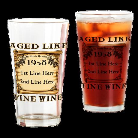 Fine Wine 1958 Drinking Glass