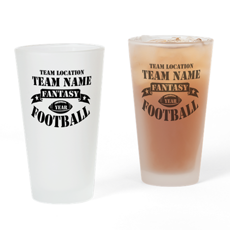 Fantasy Football Personalized Team Drinking Glass