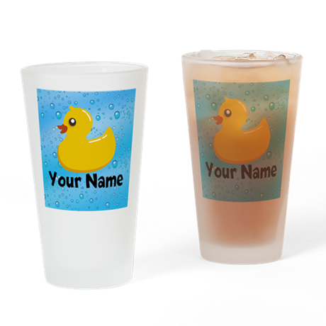 Personalized Rubber Ducky Drinking Glass